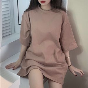 NWT tan oversized t shirt